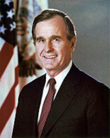 Bush defeats Dukakis for Presidency