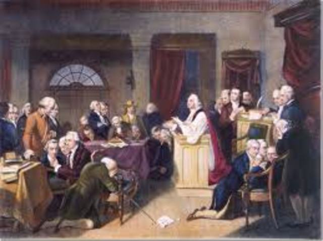 Constitution endorsed by Congress