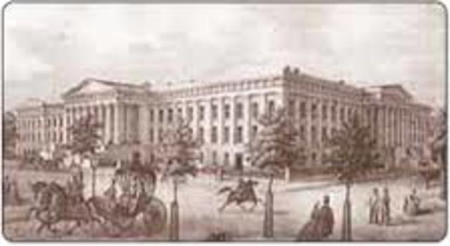 War and Treasury Departments are established by Congress, Henry Knox will be Secretary of War, Alexander Hamilton will be Secretary of Treasury.
