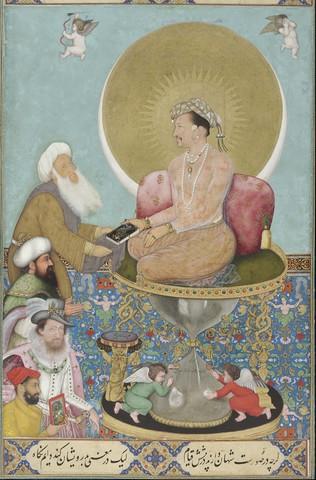 Jahangir preferring a Sufi sheikh to kings