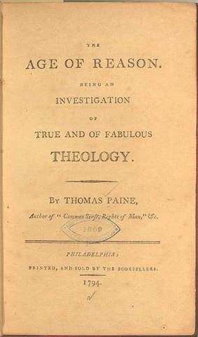 """Thomas Paine Publishes """"The Age of Reason"""""""