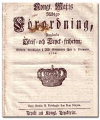 1766 års tryckfrihetsförordning