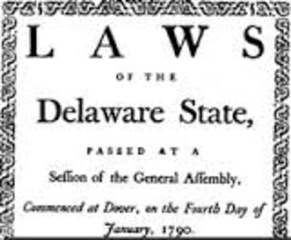 Delaware Ratifies Constitution