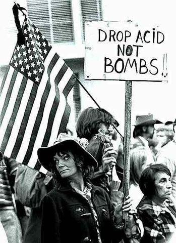 Hippies Protest