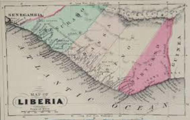Republic of Liberia Established in Africa