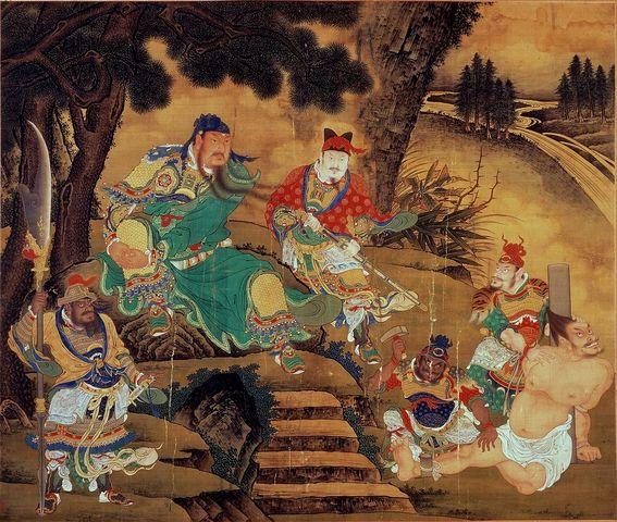 Guan Yu Captures General Pang De