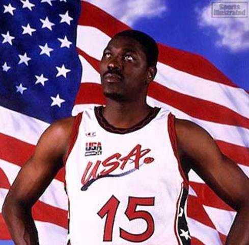 Hakeem and Dream Team III win gold medal at the 1996 Summer Games