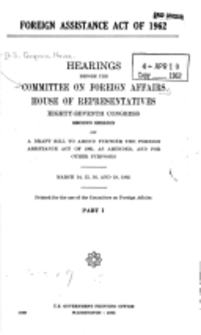 Foreign Assistence Act of 1962