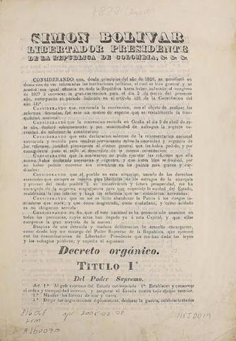 DECRETO ORGANICO DE LOS ARCHIVOS
