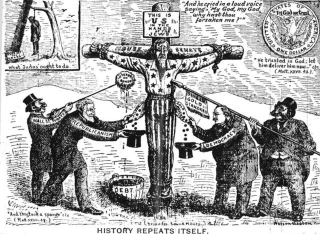 Antisemitic Political Cartoon
