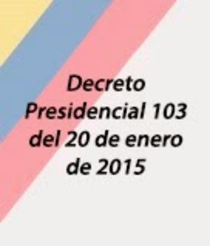 Decreto 103 de 2015