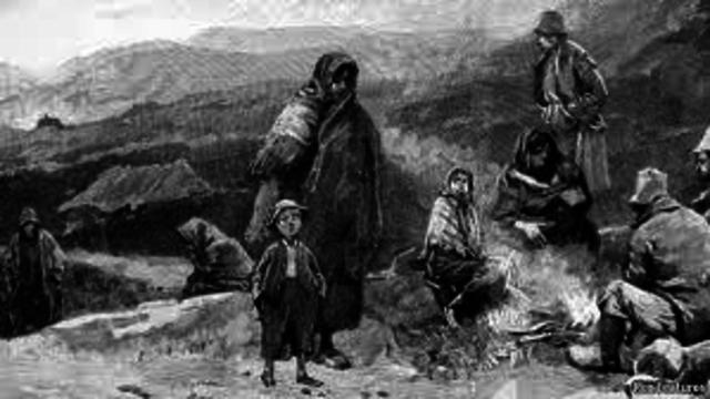 Start of The Great Potato Famine of Ireland