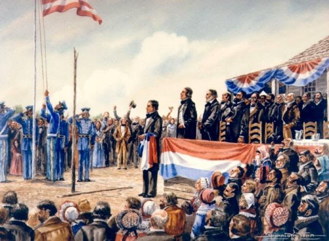 Texas enters the U.S.