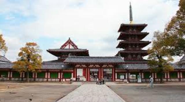 Construction of Shitennoji Temple