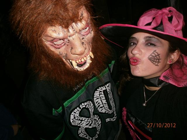 Celebrando Halloween en el Parque de Atracciones.