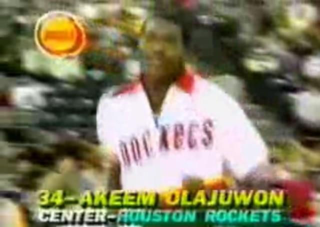 Olajuwon's 1st All-Star appearance