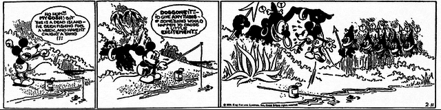 Mickey Mouse becomes a successful comic strip