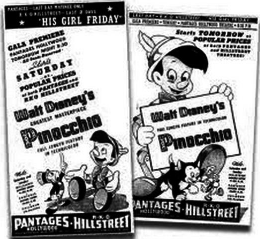 Pinocchio premieres
