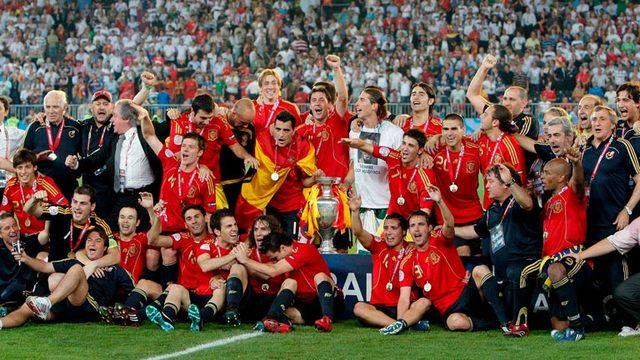 Celebración Eurocopa 2008.