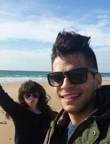 Celebrando San Valentín en la playa.