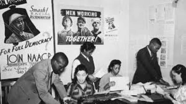 Ella Baker begins her involvement with the NAACP