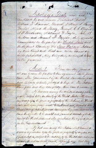 Fort Laramie Treaty (Souix Treaty of 1868)
