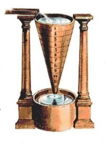 Clepsidra o reloj de agua (3000 a.C)