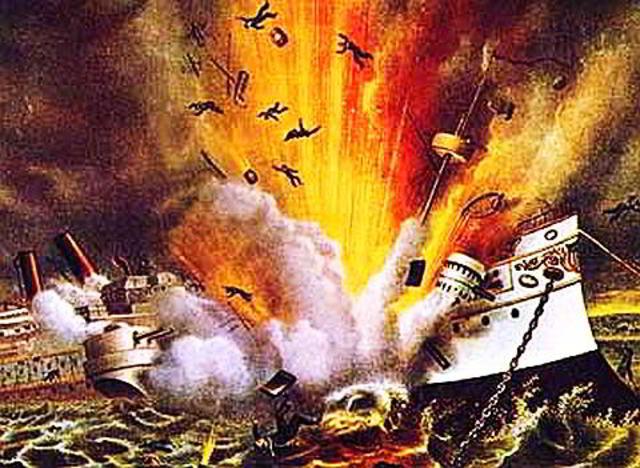 USS Main Explosion