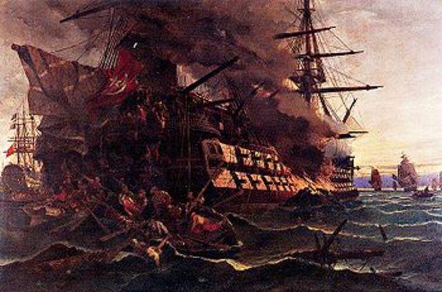 Ανατίναξη τούρκικης ναυαρχίδας στη Χίο από τον Κανάρη