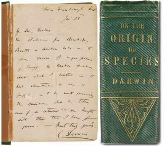 Darwin adds to Orgin of Species