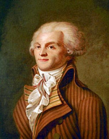 Roberspierre dio golpe de estado