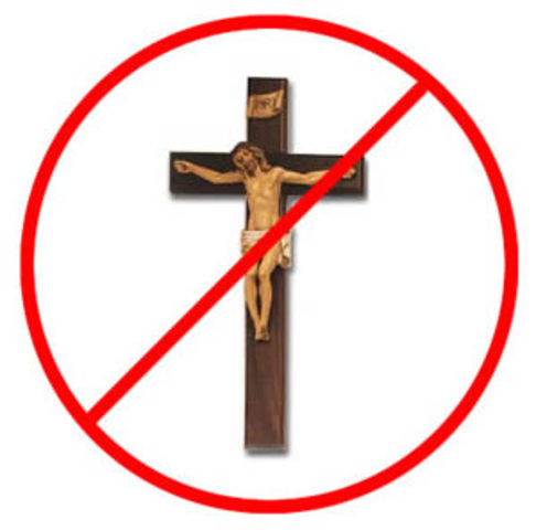 Christianity is banned