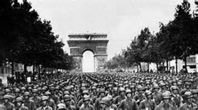 Paris retaken by Allies Forces