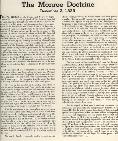 Monroe Doctrine.