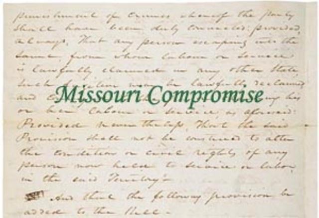 Missouri Conpromise.
