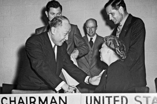 Elanor Roosevelt as a UN delagate