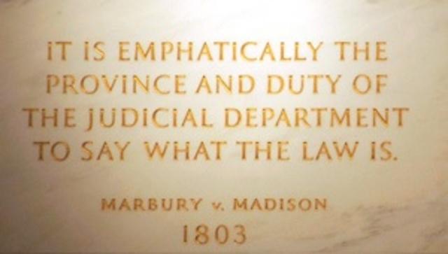 Marbury V Madison.