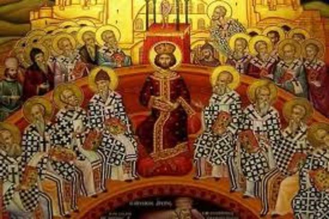 Constantino I llama al Primer Concilio de Nicea