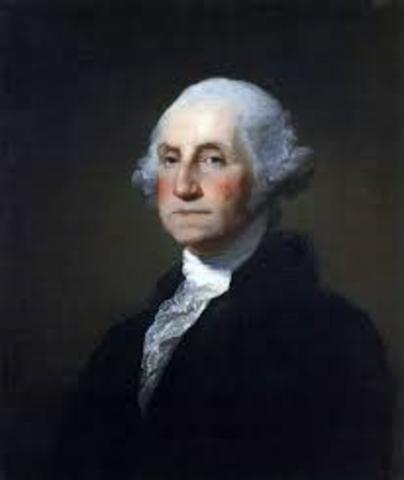 George Washington becomes president