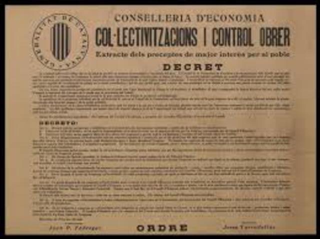 Decret de col·lectivització Generalitat de Catalunya ( Alexandra Surd)