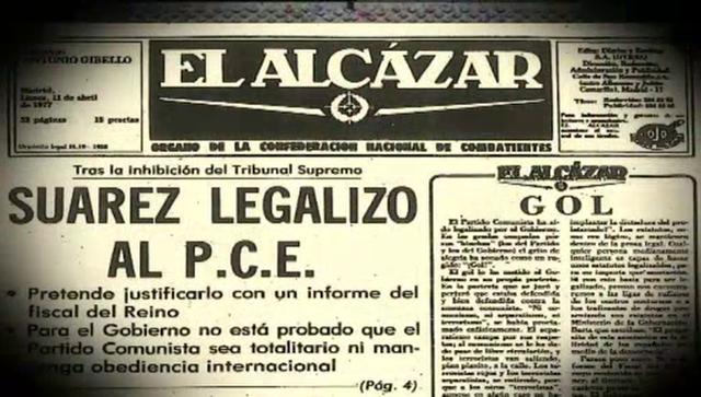 Legalización del partido comunista de España