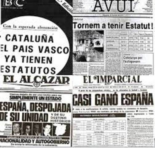 Estatuto de autonomía del País Vasco y de Cataluña