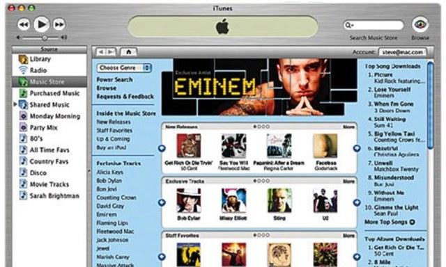 Abre iTunes Store