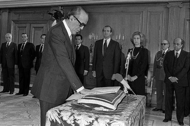 Jura de Calvo Sotelo como presidente del Gobierno