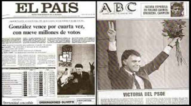 4ª victoria electoral del PSOE