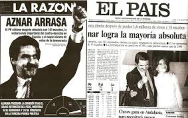 Aznar vuelve a ganar las elecciones en el 2000