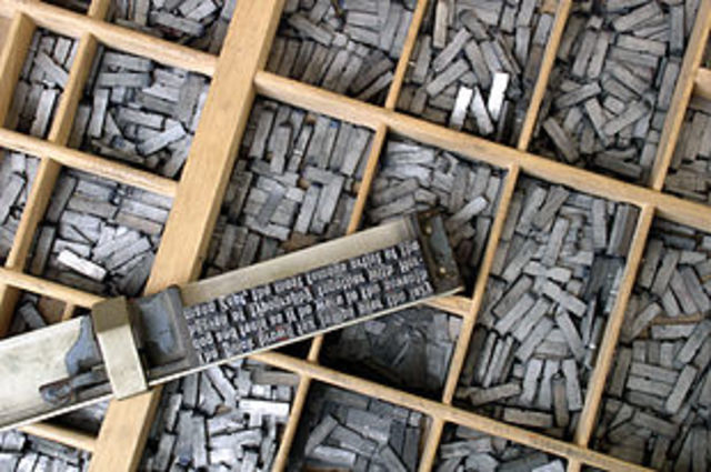 Книгопечатание: наборочный шрифт