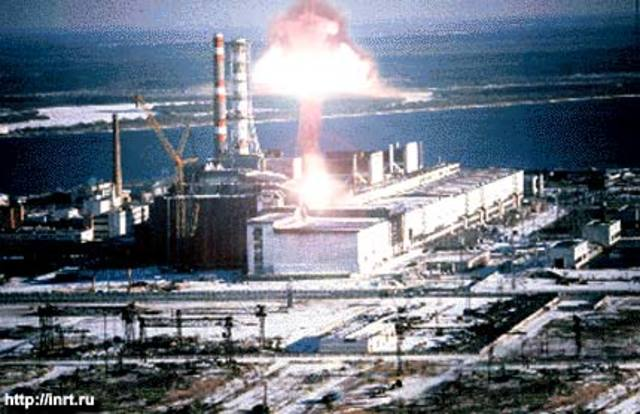 Chernobyl nuclear explosion.