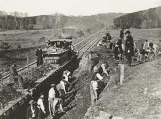 Completion of Trans Continental Railroad