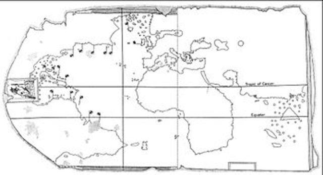 Морская карта: изображение Америки